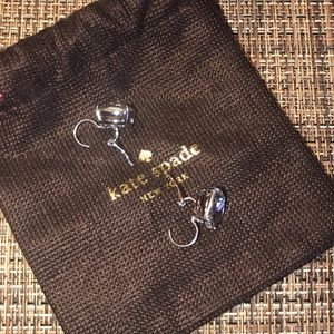 kate spade Jewelry - Kate spade silver lever back earrings
